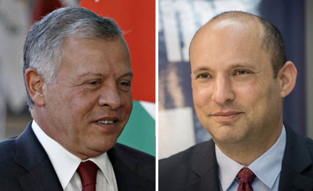 REPORT: Bennett secretly met with King Abdullah at his palace in Amman