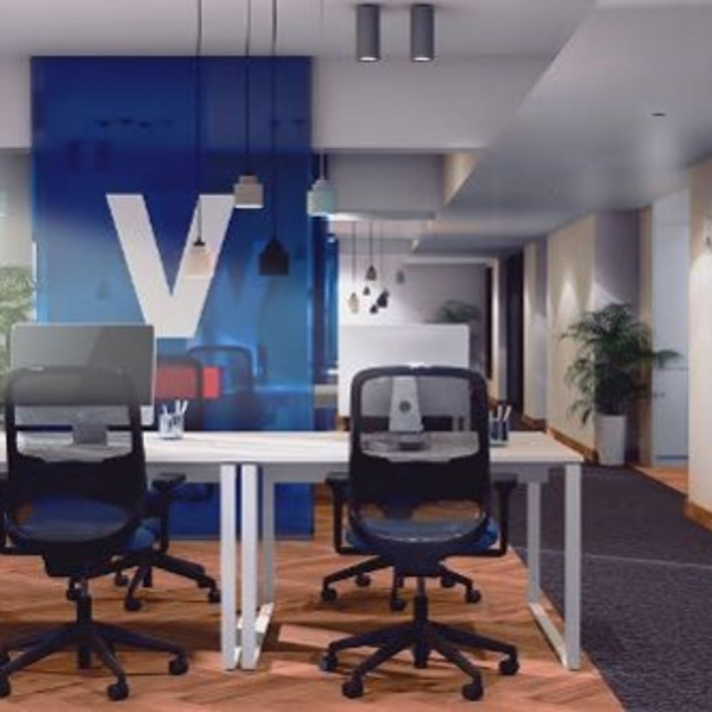 Our offices are open and flowy to encourage collaboration and elevate the mood of our team .