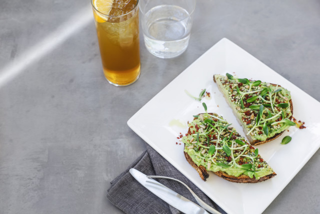 Blue Bottle Coffee breakfast lunch menu avocado toast