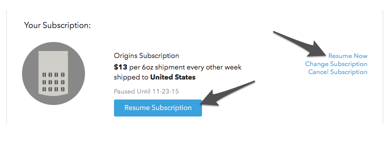 Head Over To The Subscriptions Section Of Your Account Dashboard And Click On Either Resume Subscription Button Or Now Link