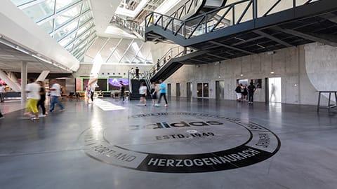 atrium lobby of adidas arena