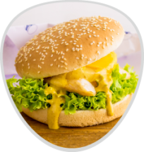 Chickenburger mit Ananas&Käse