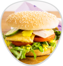 Chickenburger Ruccola