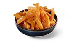 Süsskartoffel-Fritten frittierte Süßkartoffel-Stifte mit Chili-Mayonnaise Beilage