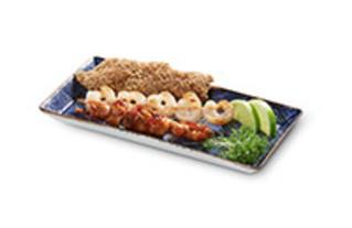 Spiesse-Mix Snack jeweils ein Garnelen-, Yakitori- und Sesam-Spieß