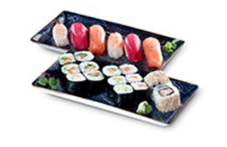 Bento Box Family Mix Sushi mit Nigiri Maki und Inside Out Rolls