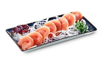 8x Lachs Sashimi  als Sushi Box