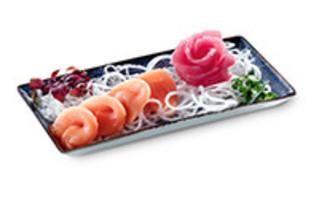 Sashimi Mix mit Thunfisch Sashimi und Lachs Sashimi