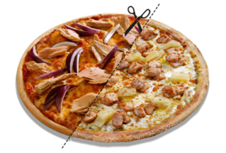 Fifty   Fifty thin crust L