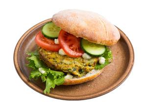 Kürbis-Chia Burger (vegan)