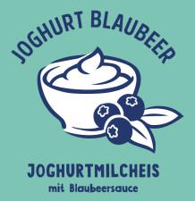 Joghurtmilcheis mit Blaubeersauce