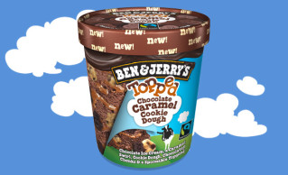 Ben & Jerry's Topped Chocolate Caramel Cookie Dough 470ml