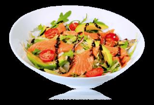 Sake Sashimi Salat