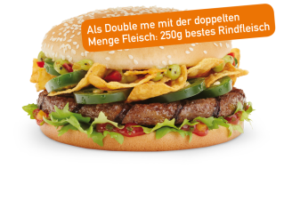 Tex Mex Burger Double me