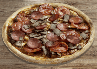 BBQ Meat Lovers thin crust M