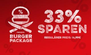 Burgerpackage mit Käse-Wedges und Gartensalat