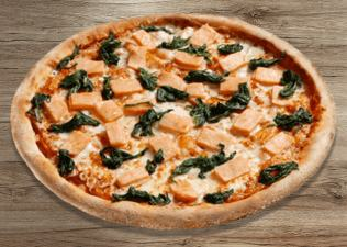 Green Salmon thin crust L