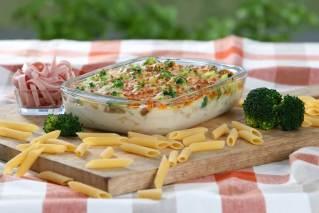 Kartoffelgratin Broccoli-Schinken