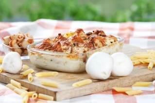 Kartoffelgratin Hähnchen-Champignons