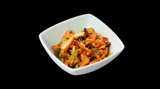 6 - Jap. Tintenfisch-Sesam Salat (Chuka Ika)