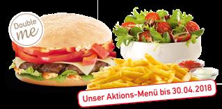Unser Spicy Spring  Burger -Menü als Double me