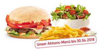 Unser Spicy Spring Burger-Menü