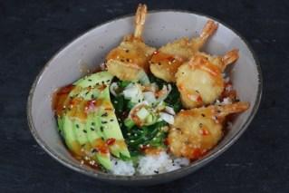 Reis-Shrimps-Salat