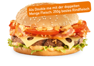 Röstzwiebel Bacon Double me
