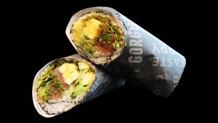 114a - Halber Thunfisch Tatar Burrito