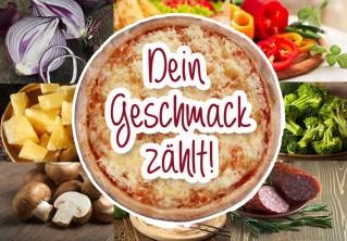 Grundpizza uno classic S + 3 Toppings