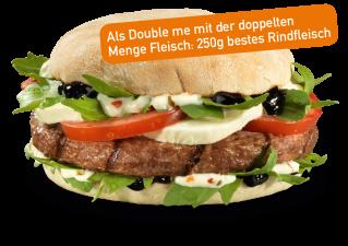 Italian Ciabatta Burger Double me
