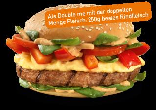 Umami Egg Burger Double me