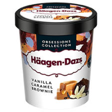 Haagen-Dazs Vanilla Caramel Brownie 100ml