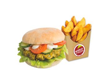 Falafel Burger vegan & Pommes