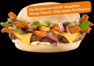 Sweet Potato Burger Double
