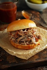 Burger Cheese Pulled Chicken