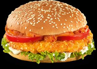 Crunchy Caribbean burger