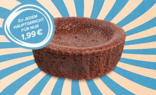 Dessert-Menü Lava-Cake