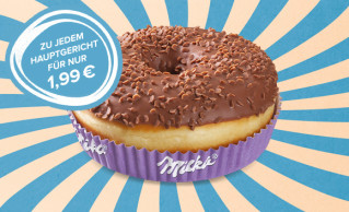 Dessert-Menü Milka Donut