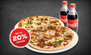 Coke-Paket (2 Freddys + 2 Cola 0,5l)