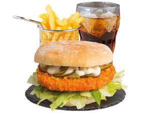 Crispy Chicken Burgermenü