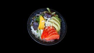 323 - Großer Lachs-Mango Salat