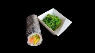 S17 - Gourmet Burrito + Wakamé Seealgensalat