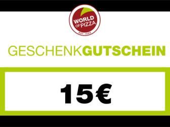 WOP-Geschenkgutschein im Wert von 15 Euro
