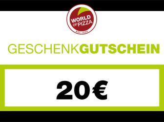 WOP-Geschenkgutschein im Wert von 20 Euro