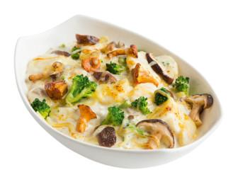Kartoffelgratin Pilzkörbchen vegetarisch
