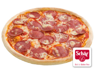 Glutenfreie Pizza Salami