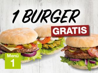 Menü 1 - Burger gratis