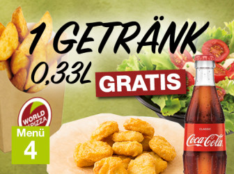 Menü 4 - Getränk gratis