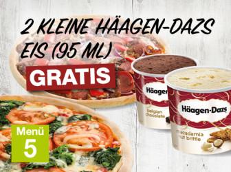 Menü 5 - Häagen Dazs gratis